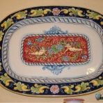 Til, decorative plates, piatto ovale