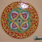 Til, decorative plates, roud tile