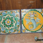 Til, decorative plates, set 2 mattonelle 20x20