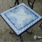 Lava stone tables, tavolo orchidea blu
