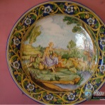 Til, decorative plates, piatto con fanda